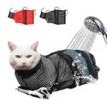 🔥 Mesh Cat Grooming Bath Bag