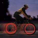 LED Flash Tyre Wheel Valve Cap Decorative Light (2PCS)
