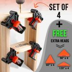 Clamp Set (4pcs) + Free 60° & 120° Heads