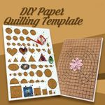 ❤️DIY Paper Quilling Template