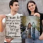 HOLD YOUR HAND - PERSONALIZED CUSTOMS HORIZONTAL CANVAS