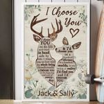 I CHOOSE YOU - PERSONALIZED CUSTOMS VERTICAL CANVAS