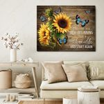 Best Gift For Sunflowers And Butterflies Lovers CANVAS