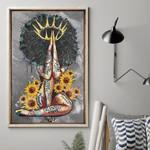 Black Queen Sunflower Tattoo Poster