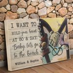 MM LET'S GO TO THE BEACH - PERSONALIZED CUSTOMS HORIZONTAL CANVAS