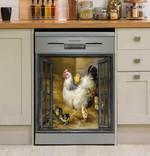 Chicken Window Farm Decor Kitchen Dishwasher Cover