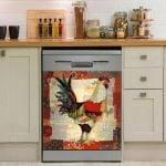 🐔Funny Rooster Chicken Decor Kitchen Dishwasher Cover 2