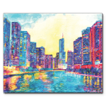 """""""Chicago River"""" Paint By Numbers Craft-Ease™ - Exclusive Series (40 x 50 Cm)"""