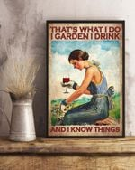 THAT'S WHAT I DO I GARDEN I DRINK - VERTICAL CANVAS
