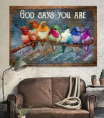 Hummingbird - God says you are 1 - VERTICAL CANVAS