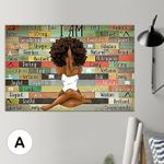 Black Woman Art Canvas