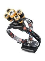 Rechargeable Zoom Waterproof Ultra-Bright Led Headlamp - Gold