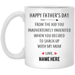 Happy Father's Day From Inherited Kid Personalized Coffee Mugs