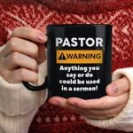 Pastor Warning Mug