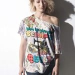 Alohazing Off shoulder Women T-Shirts Sweater Vintage Floral Make A Quilt