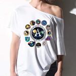 Alohazing Off-shoulder Women T-shirt Sweater Apollo Nasa Apparel