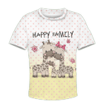 Happy family of giraffe Kid Custom Hoodies T-shirt Apparel