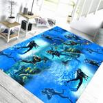 Alohazing 3D Custom Square Carpet Scuba Diving Hawaiian