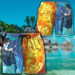 Alohazing 3D Naruto Sasuke Beach Shorts