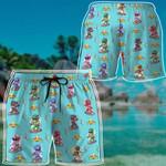 Alohazing 3D Mighty Morphin Power Rangers Beach Shorts