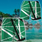 Alohazing 3D Green Frankenstrat Strings Custom Beach Shorts