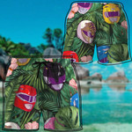 Alohazing 3D MMPR Helmet Hawaii Beach Shorts