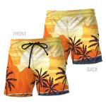 Alohazing 3D Hawaii 3D Beach Shorts Sunset