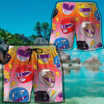 Alohazing 3D MMPR Helmet Pattern Custom Beach Shorts