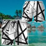 Alohazing 3D White Frankenstrat Strings Custom Beach Shorts
