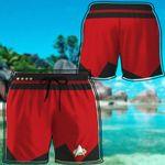 Alohazing 3D Red Star Trek Custom Beach Shorts