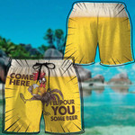 Alohazing 3D Pour You Some Beer Beach Shorts