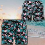 Alohazing 3D Martini Flamingo Hawaiian Beach Shorts