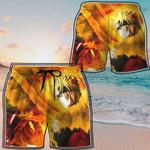 Alohazing 3D Naruto Uzumaki Kyuubi Fox Pattern Beach Shorts