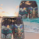 Alohazing 3D Palm Tree Midnight Beach Shorts