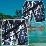 Alohazing 3D Blue Frankenstrat Strings Custom Beach Shorts