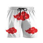 Alohazing 3D Anime Naruto Shippuden White Akatsuki Cosplay Custom Beach Shorts