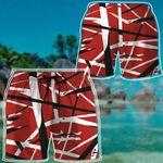 Alohazing 3D Red Frankenstrat Strings Custom Beach Shorts