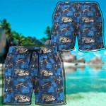 Alohazing 3D SW Blue Vehicle Classic Pattern Beach Shorts