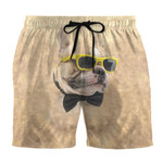 Alohazing 3D Bulldog 3D Beach Shorts Sunglasses