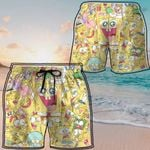 Alohazing 3D Spongebob Hawaii Beach Shorts