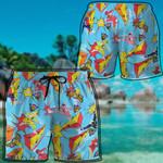Alohazing 3D Vintage Mighty Morphin Power Rangers Beach Shorts