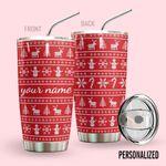 Alohazing 3D Christmas Pattern Personalized Tumbler