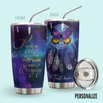 Alohazing 3D Butterfly Personalized Tumbler Dreamcatcher
