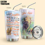 Alohazing 3D Elephant Mom To Daughter Personalized Tumbler