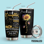 Alohazing 3D To My Daughter Sunflowers Personalized Tumbler