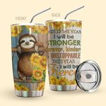 Alohazing 3D Sloth Tumbler This Is The Year