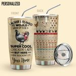 Alohazing 3D Chicken Lady Personalized Tumbler