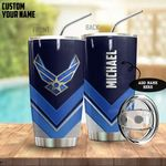 Alohazing 3D US Air Force Metal Style Personalized Tumbler