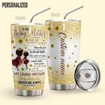 Alohazing 3D To My Loving Mother Personalized Tumbler