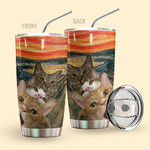 Alohazing 3D Selfie Scary Cats Custom Design Vacuum Insulated Glitter Tumbler